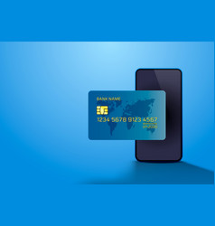 electronic credit card and phone icon finance vector image