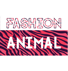 fashion animal lettering sales and vector image