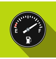Fuel gauge flat icon vector