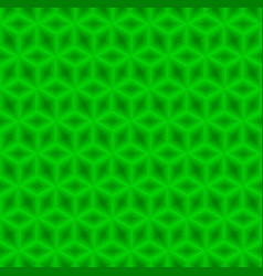 Green cubes pattern seamless background vector