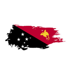 grunge brush stroke with papua new guinea vector image