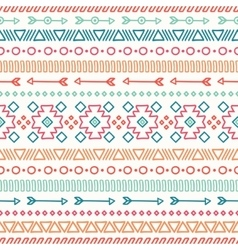 Hand drawn geometric ethnic seamless pattern vector image