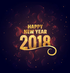 happy new year golden background greeting vector image