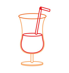 isolated cocktail design vector image