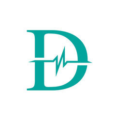 letter d initial logo d-initial medical logo with vector image