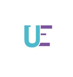 letter u e logo icon design template elements vector image