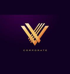 letter v logo v letter design vector image