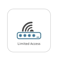 Limited Access Icon Flat Design vector image