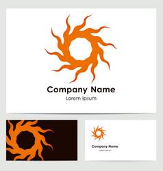 Logo design business card template vector