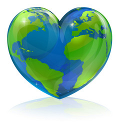 love the world heart concept vector image