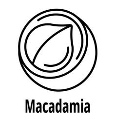 macadamia icon outline style vector image