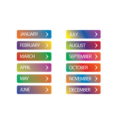 month year vector image