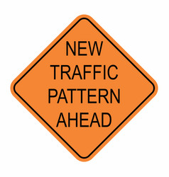 New traffic pattern ahead vector