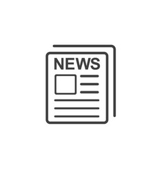 newspaper icon flat simple linear sign news vector image