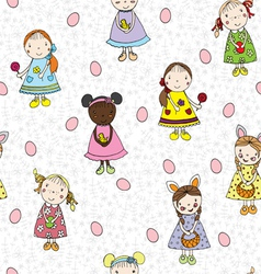 Passover pattern with children vector image