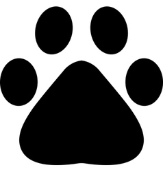 Paw footprint vector