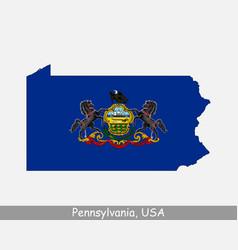 pennsylvania usa map flag vector image