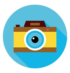 Photo Camera Circle Icon vector image