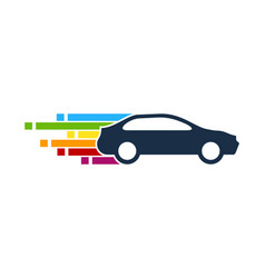 pixel art automotive logo icon design vector image
