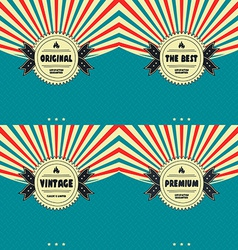 premium label vintage quality badge theme vector image