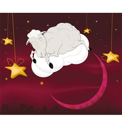 Ram on a cloud vector image