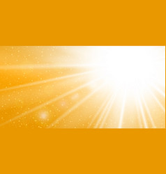 Rays yellow background gold sunny sky heat vector
