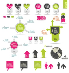 Retro infographics set vector image