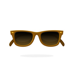 Retro sunglasses with brown horn-rimmed frames vector