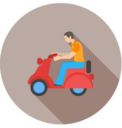 Riding scooter vector