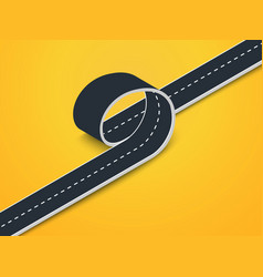 road loop isometric view winding 3d road on a vector image