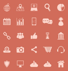 SEO color icons on orange background vector image