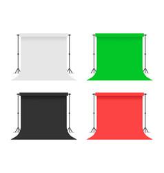 Set papers studio backdrops vector