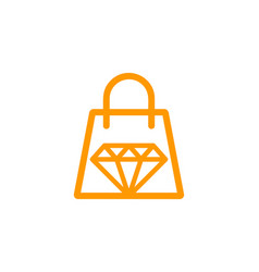 Shop diamond logo icon design vector