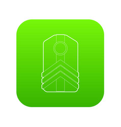 shoulder straps icon green vector image