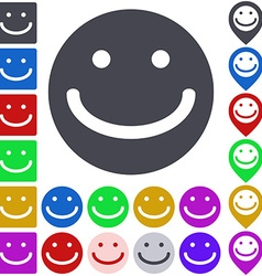 Smiling Face Icon Set vector