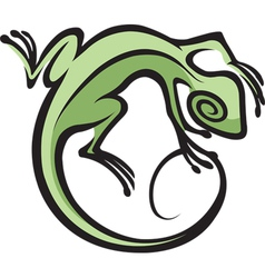 southwest lizard vector image