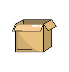 Square box package open design vector