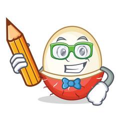 Student rambutan character cartoon style vector