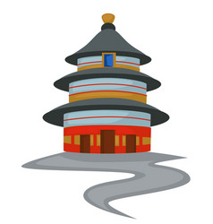 Temple heaven chinese architecture isolated vector