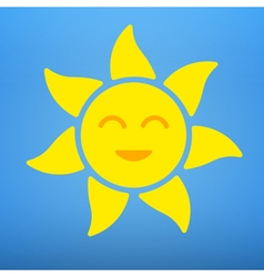 The sun with a smile vector image