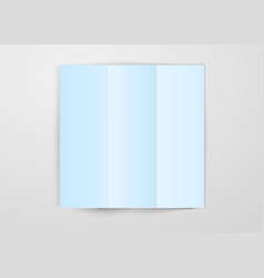 three times folded light blue paper sheet placed vector image