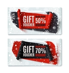 Two Black Friday winter gift vouchers vector image