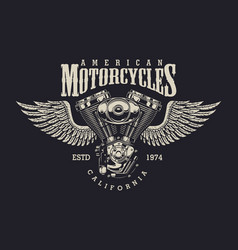 vintage custom motorcycle label vector image