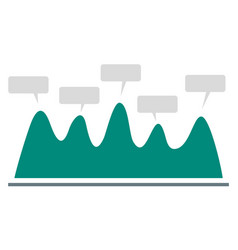 wave chart icon flat style vector image