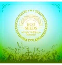 Badge in retro style for ecologically pure seeds vector image vector image