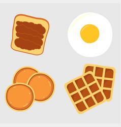 breakfast menu items vector image vector image