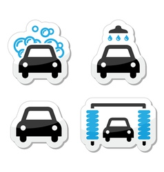 Car wash icons set - vector image vector image