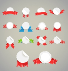 Collection of paper style labels vector image
