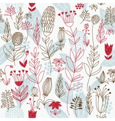floral background seamless patern vector image vector image