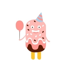 Ice-Cream On A Stick Children Birthday Party vector image vector image